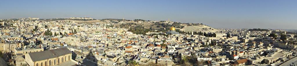Panoramabild mit Ausblick vom Turm